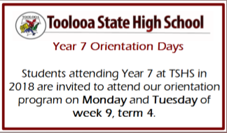 Tooolooa SHS Junior Secondary Orientation Days