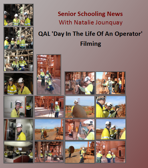 Senior Schooling News With Natalie Jounquay - QAL 'Day In The Life Of An Operator' Filming